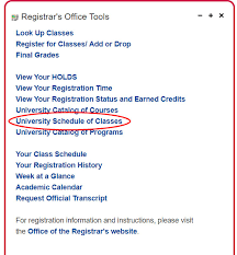 How To Read The Class Schedule Red Hawk Central