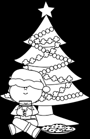 christmas cookies clip art black and white.  Art Black And White Boy Santa With Cookies Milk Intended Christmas Clip Art And I