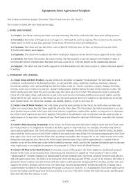 You fill out a form. Equipment Sales Agreement Template Free Download Bonsai
