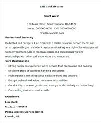 9+ Cook Resumes  Word, PDF