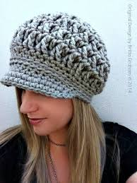 Bulky Yarn Crochet Hat Patterns Fascinating Newsboy Crochet Hat Pattern For Super Bulky Yarn The Etsy