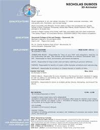3d Animator Resume Pdf Professional Resume Templates