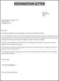 Resignation Template Resignation Letter Template Ipasphoto