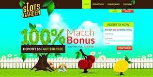 slots garden 100 match bonus on first deposit