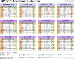 academic calendars as printable excel templates template 4 academic calendar 2015 16 for excel landscape orientation year at