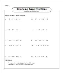 simple algebra worksheets pdf