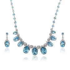 whole luxury gifts jewelry set made with crystals from swarovski