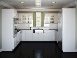 White Kitchens With Dark Wood Floors White Kitchen Cabinets Dark Tile Floor Outofhome
