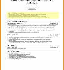 Sample Profile Statement For Resume Resume Profile Examples For College Students Retail Healthcare 96