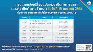 กรุงไทย ปรับเวลา-ปิดทำการ 7 สาขาชั่วคราว วันนี้ (19 เม.ย.) เช็กเลย!