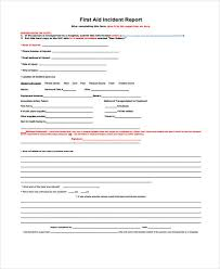 Injury Incident Report Template Simple Incident Report Form Example