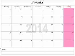 Best Photos Of Word 2014 Monthly Calendar Templates