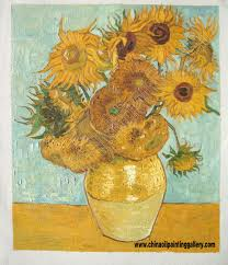 the sunflowers oil painting reion