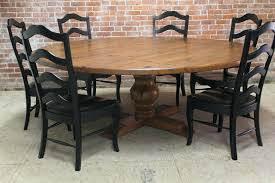 large round dining table seats 6 large outdoor round pedestal farmhouse dining table with 6 ladder