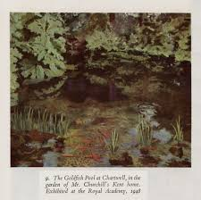 painting as a pastime by winston s churchill from project the goldfish pool at chartwell