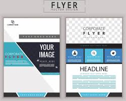 Corporate Flyer Template Modern Flat Decoration Free Vector