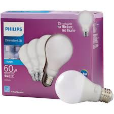 60 Watt Light Bulb Walmart Philips 60 Watt Equivalent A19 Dimmable Energy Saving Led