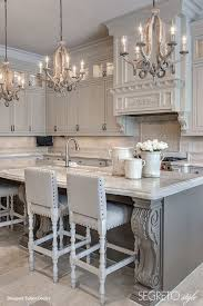 kitchen lighting chandelier. Gray Kitchen With Stylish Mini Chandeliers Lighting Chandelier U