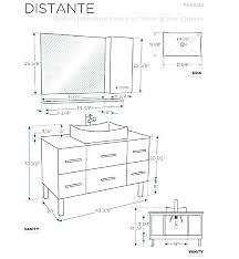 standard cine cabinet size standard cine cabinet depth height in white modern master bathroom vanity counter