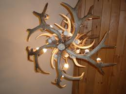 mule deer and elk antler chandelier 202