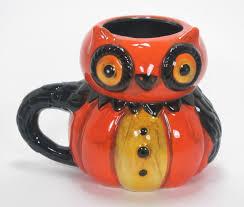 J Parker Design Mugs Ceramic Halloween Owl Drinking Mug Hand Painted Johanna Parker Design