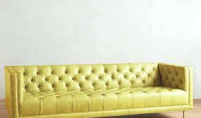 yellow leather sectional mustard modern