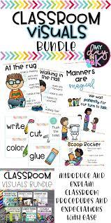 Preschool Classroom Design Tool Classroom Procedure Visuals Bundle Classroom Procedures