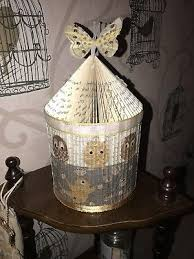 hand made folded book birdcage art mother s day gift birthday erflies owl