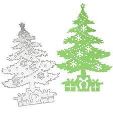Outgeek Cutting Die Christmas Tree Shape Carbon Steel