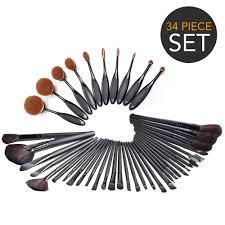 34 piece ultimate hollywood makeup brush set super soft cosmetics foundation blending blush eye liner face powder brush walmart