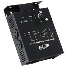 Sound To Light Controller American Dj T4 Instant Sound To Light Chase Controller