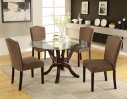 Modern Round Kitchen Tables Dining Table Modern Round Glass Dining Table Set Ideas Round
