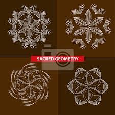 Fototapeta Posvátné Symboly A Geometrie Na Do Tetování Květ života