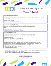 Registration Open For Spring 2019 Arlington Class Sessions