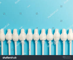 Light Up Ear Cleaner Cotton Buds Closeup On Light Blue Stock Photo Edit Now