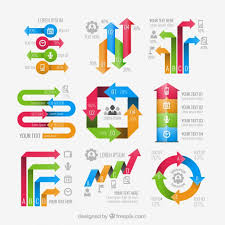 Arrows Infographic Elements Vector Free Download