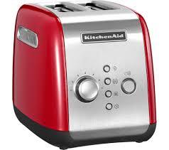kitchenaid 5kmt221ber 2 slice toaster empire red