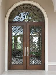 contemporary wrought iron front doors