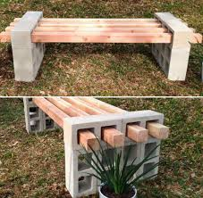 Beautiful DIY Cinder Block Bench