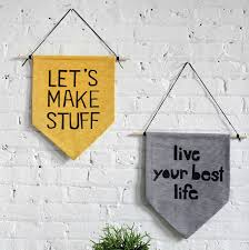 diy wall banner on diy inspirational quote wall art with 25 diy wall art decor ideas cool crafts