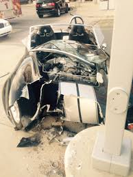 report valet driver crashes shelby cobra photos