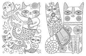 Amazon Com Posh Adult Coloring Book Cats Kittens For Comfort Colorful Comfort Coloring Book L