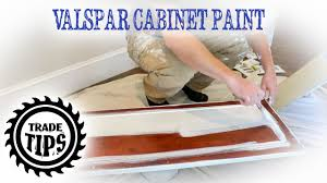 valspar cabinet enamel painting cabinets without brush marks trade tips
