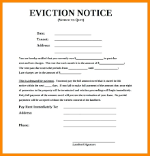 Free Printable Eviction Notice Template Custom Samples Of Eviction Notice Template Free Documents In Landlord