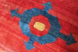 all wool village area rug folk art rugs