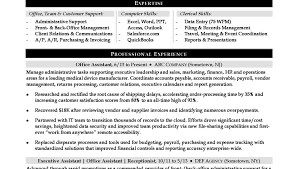 Administration Resume Objective Best of Resume Template Executive Administrative Assistant Sample Monster