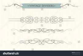 Divider Graphic Design Vector Hand Drawn Flourishes Text Divider Graphic Design