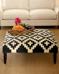 Kilim ottoman coffee table