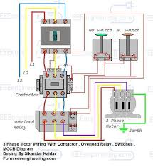 phase motor wiring diagram for controlling three phase motor