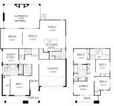 floor plan friday split level modern multi house plans australia s